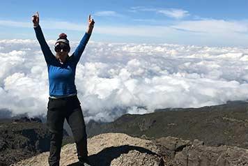 Susan's charity climb raises over £12,000 for mental health